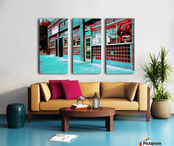 Atlanta Street Scene -- Turquoise Split Canvas print