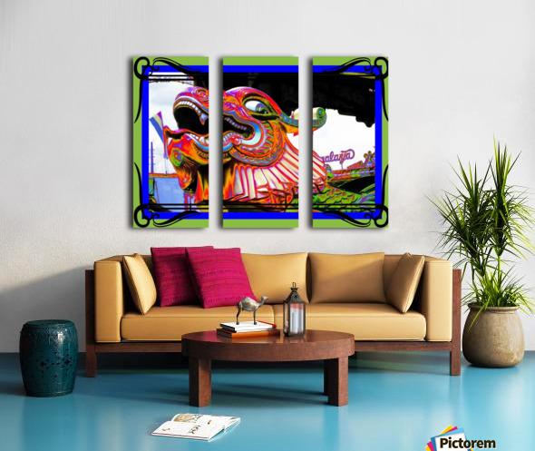 Carnival Creature in Bright Colors Split Canvas print