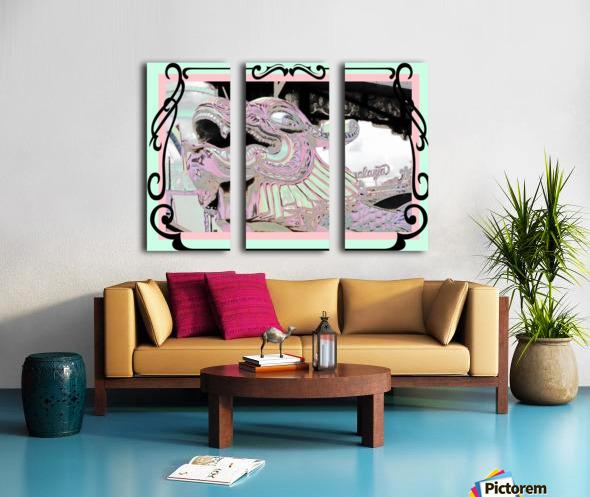 Carnival Creature in Pastels Split Canvas print