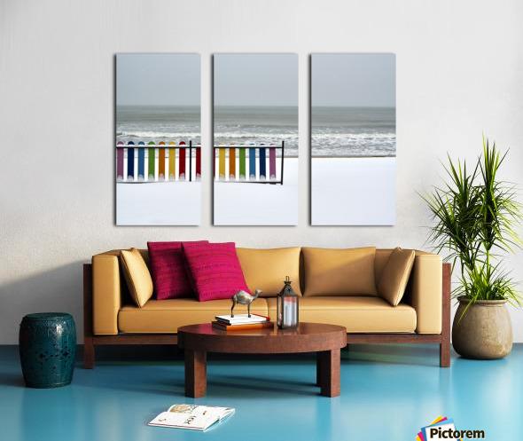 Winter beach Split Canvas print