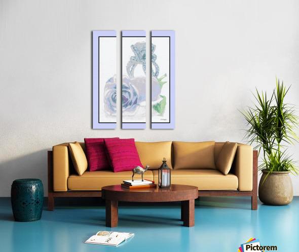 Blue Bud in Frame Split Canvas print
