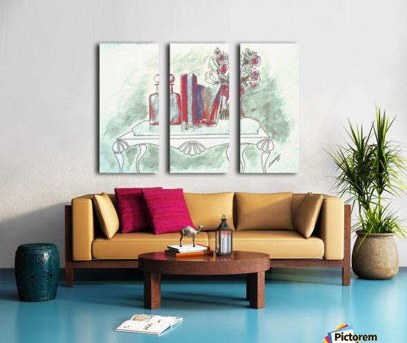 Pretty in Mint Split Canvas print