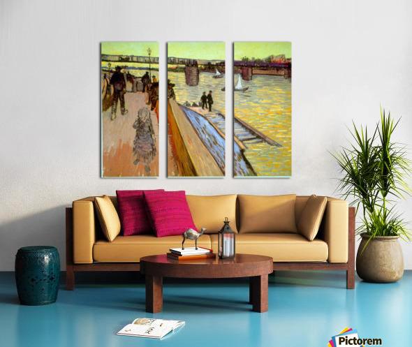 Bridge by Van Gogh Split Canvas print