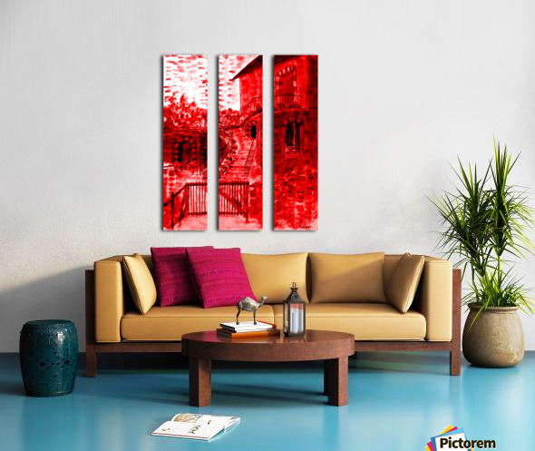 Let Them Eat Cake  -- Red Split Canvas print