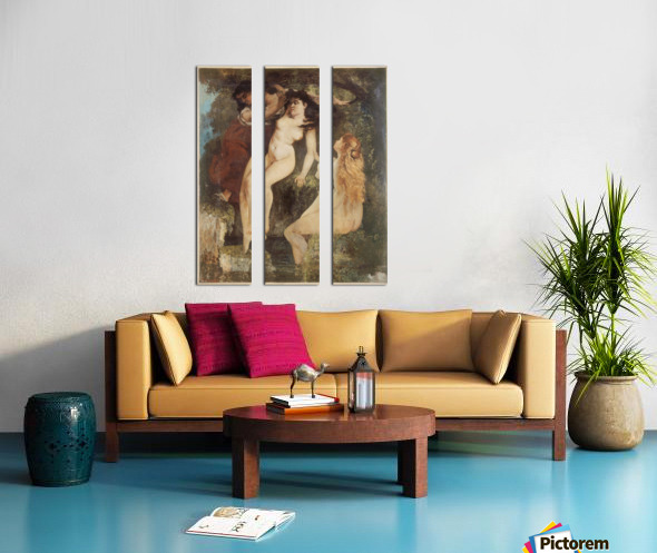 Trois baigneuses Split Canvas print