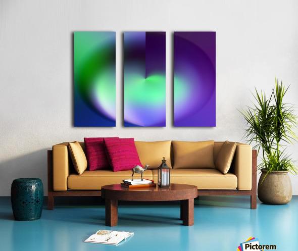 Heart Abstraction Split Canvas print