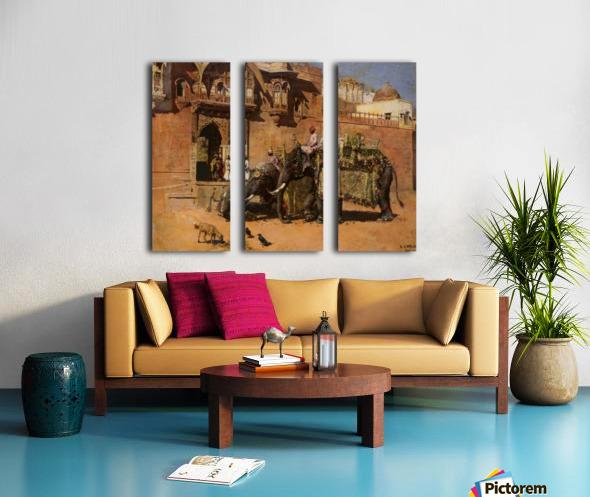 Elephants at the Palace of Jodhpore Split Canvas print