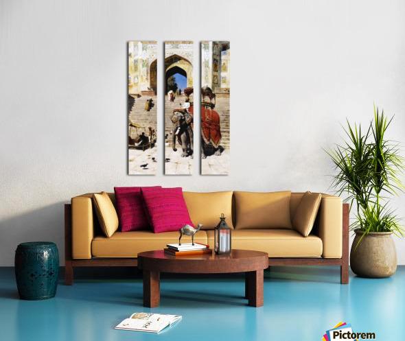 Royal Elephant Split Canvas print