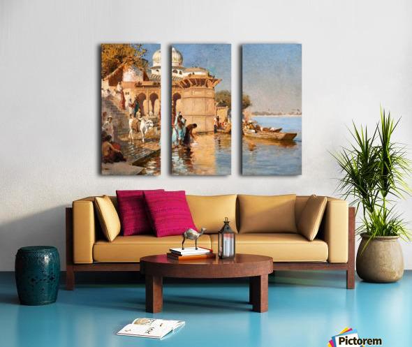 Along the Ghats, Mathura Split Canvas print