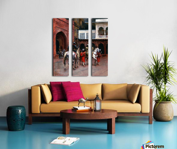 Indian Prince, Palace of Agra Split Canvas print