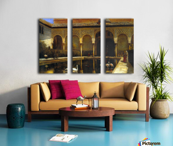 A Court in the Alhambra Split Canvas print