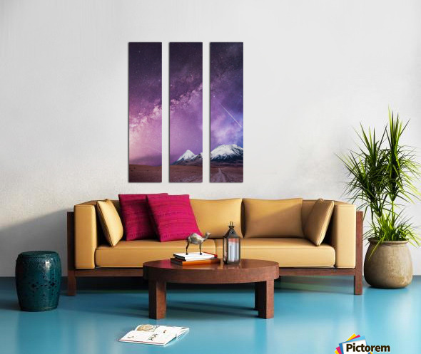 Milky Way Over The Volcano Split Canvas print