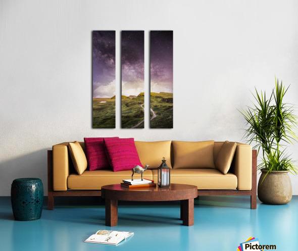 Purple Milky Way And The Sunshine Split Canvas print