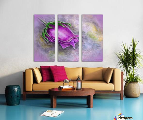 Dreamy Rose Split Canvas print