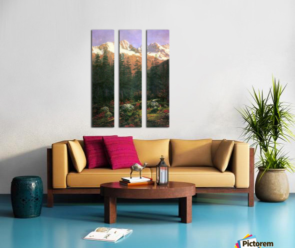 Canadian Rockies by Bierstadt Split Canvas print