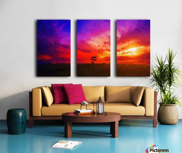 Last Sunset Split Canvas print