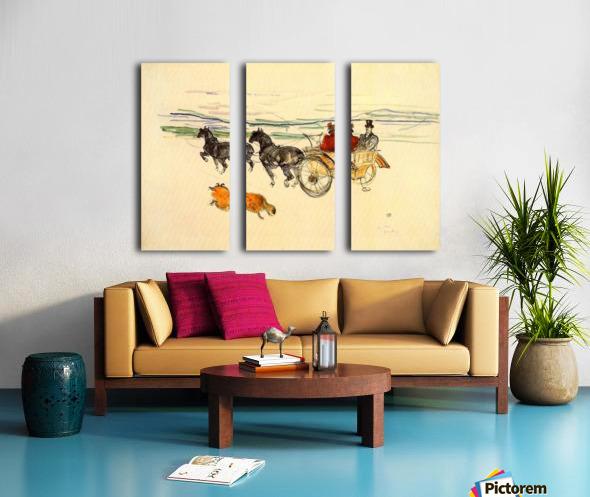 Carriage by Toulouse-Lautrec Split Canvas print
