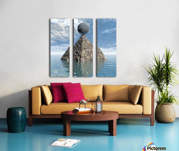 Alien City Split Canvas print