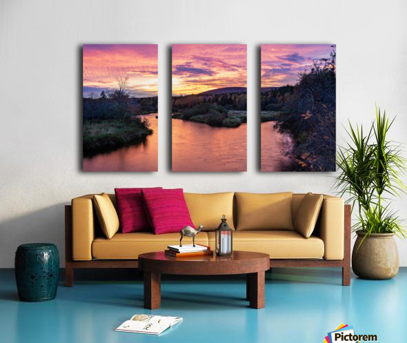 Early morning on the Margaree river  Split Canvas print