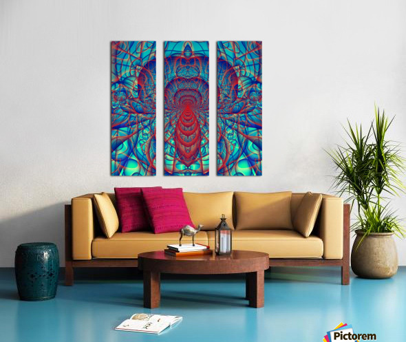 Blue_Spider Split Canvas print
