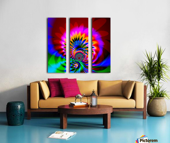 Psychedelic_Flower_series_3 Split Canvas print