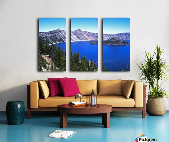 Crater Lake Oregon Split Canvas print