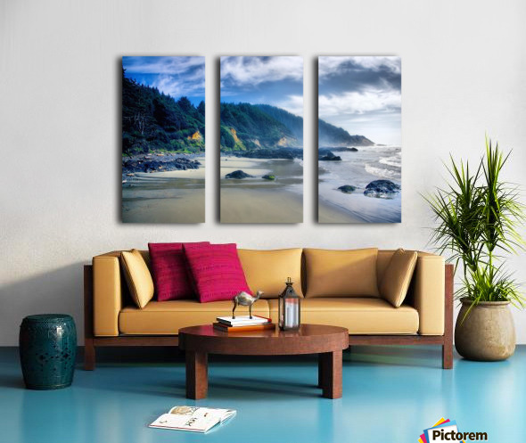 Misty Morning Split Canvas print