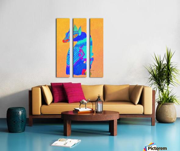 Blue Cat Split Canvas print