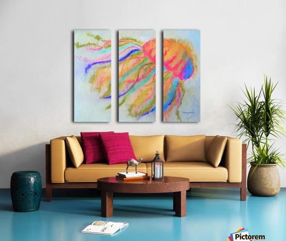 Jellyfish in watercolor Split Canvas print