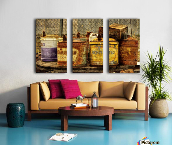 Rusting Split Canvas print