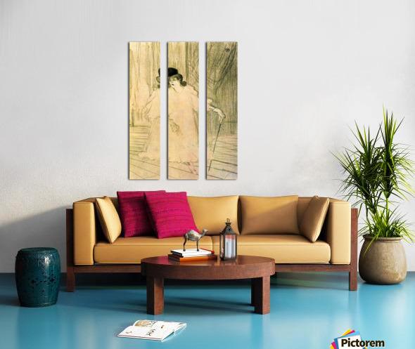 Cecy Loftus by Toulouse-Lautrec Split Canvas print