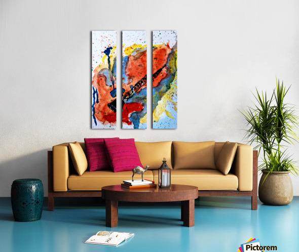 Clarinet watercolor Split Canvas print
