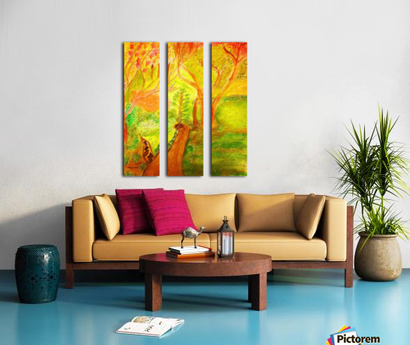 Could it be yellower  Split Canvas print