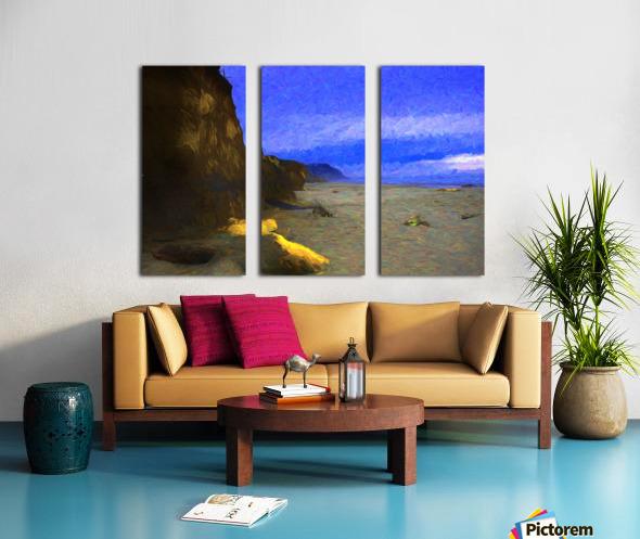 Yachats Beach Painting Split Canvas print