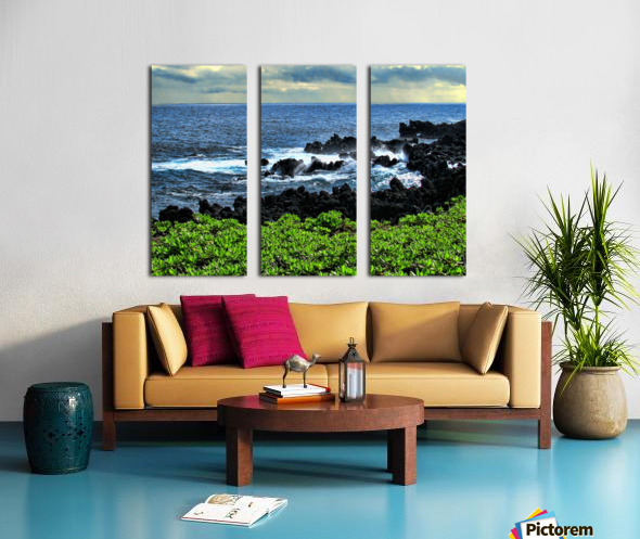 Hana Beach Hawaii Split Canvas print