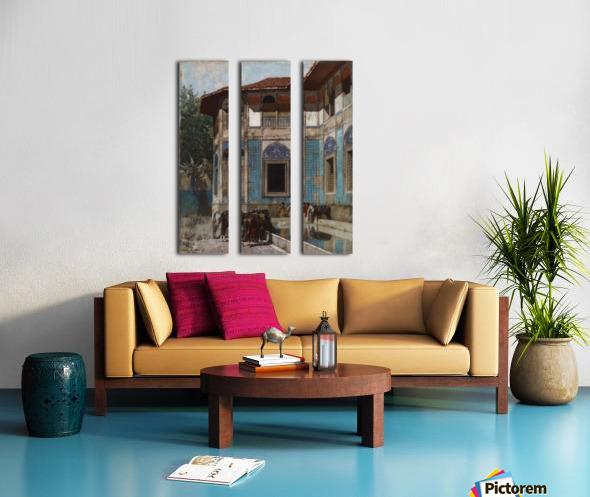 Damascus Split Canvas print