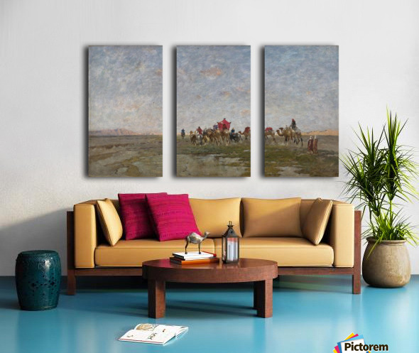 Caravan in the desert Split Canvas print