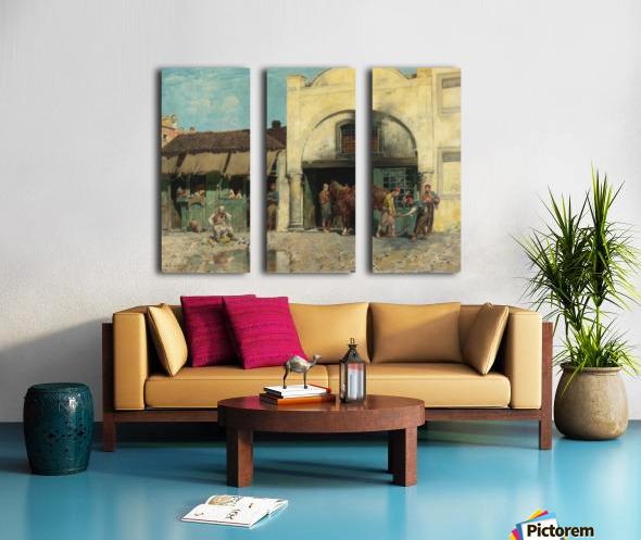 Oriental market Split Canvas print
