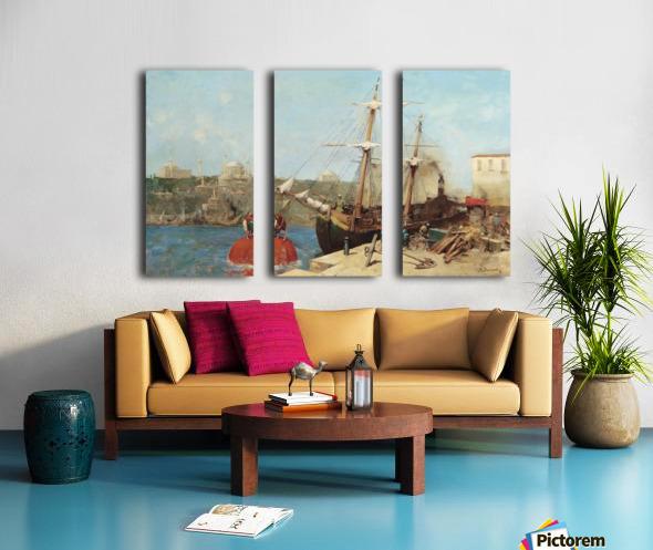 Am Goldenen Horn Split Canvas print