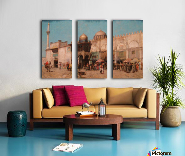 Mosque Split Canvas print