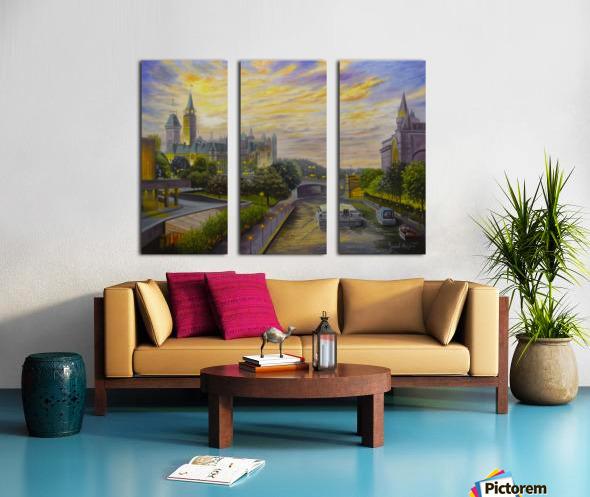 Rideau Canal in Ottawa Split Canvas print