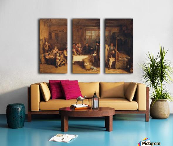 Distraining for Rent Split Canvas print