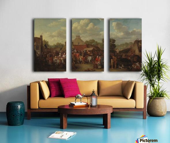 Pitlessie Fair Split Canvas print