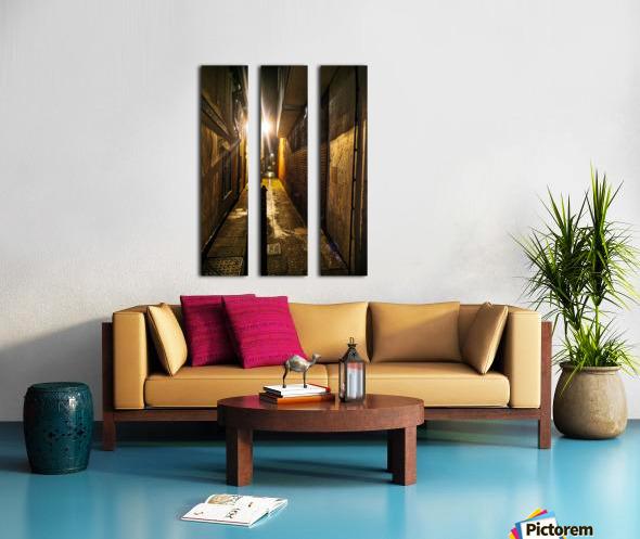 Alley light Split Canvas print