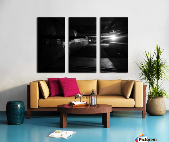Dark alley Split Canvas print