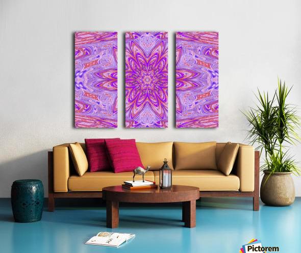 Pink Blue Daisy Split Canvas print