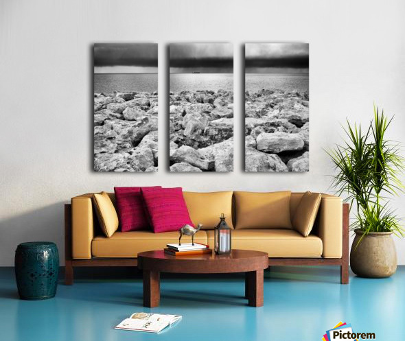 Stormy weather at the beach Split Canvas print