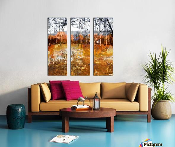 Les saisons Split Canvas print