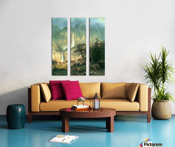 Cho-Looke,  Yosemite Watterfall by Bierstadt Split Canvas print