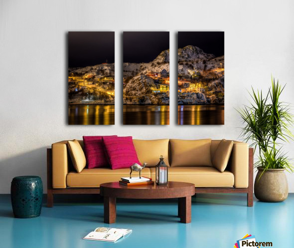 Across the Harbour Split Canvas print